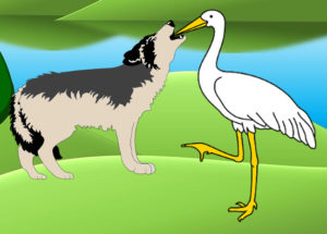 The Wolf and The Crane - Aesop's fables - Liz Story Planet